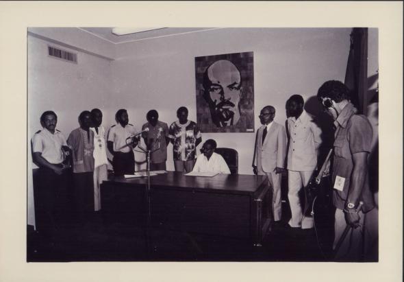 primeira reunião do Presidente com os ministros e secretários de estado.17/11/1975