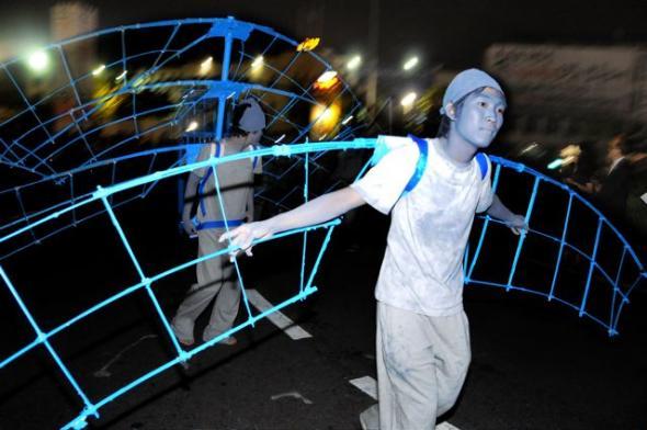 'Spring', 7 Bienal de Gwangju, Coreia do Sul, 2008. Na imagem trabalho de Karyn Olivier. Foto de Akiko Ota