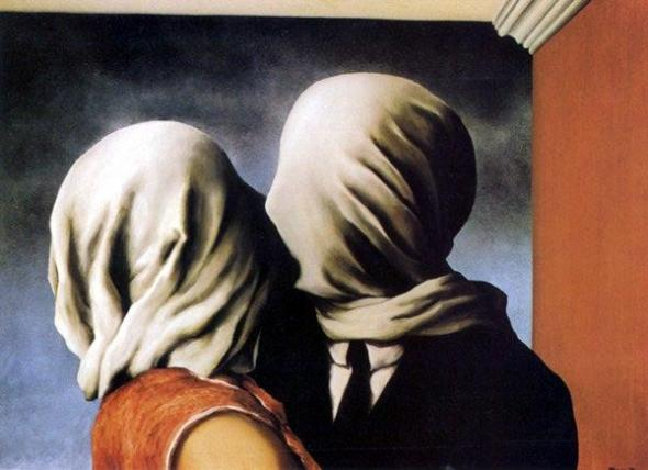 'O Beijo' de Magritte