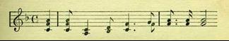 """Notação musical do espiritual """"Nobody knows the trouble I seen"""""""