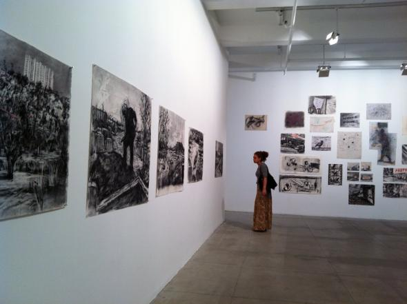 William Kentridge. Other Faces.  Marian Goodman Gallery, NY. Photo by Beatriz Leal Riesco.