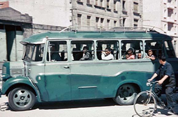 Autocarro que transportou os estudantes em França