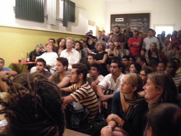 público no concerto de Aline