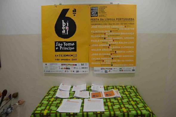 cartaz da Bienal das Artes e do Roça Língua
