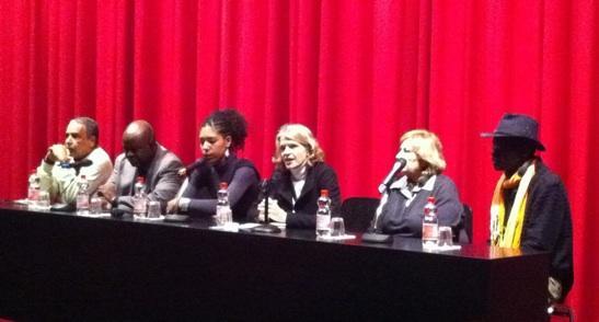 Pedro Pimenta (Dockanema), Soma Ardiouma (FESPACO), Claire Diao (FACC), Dorothee Wenner (Berlinale), Annie Djamal (JCC) e Charles Asiba (Festival de Filmes do Quénia). Foto (c) Berlinda.