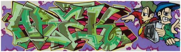 AREK (Tim Conlon and Dave Hupp, 2007) - Graffiti pertencente à exposição RECOGNIZE!