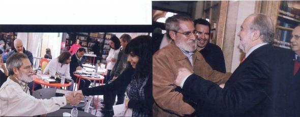 Um dos principais escritores de língua portuguesa, Pepetela, convive com leitores e com outros escritores também envolvidos politicamente, como Manuel Alegre.