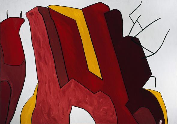 A las cinco en punto de la tarde (TAG 33) Óleo sobre tela | Col. de Arte Moderna Gerardo Rueda