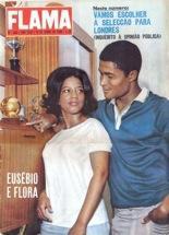 cinco anos depois de deixar os subúrbios de Lourenço Marques, Eusébio era o exemplo de uma fulgurante trajectória de mobilidade social (Flama, 10/6/66)