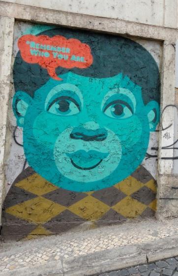 graffiti numa rua de Lisboa