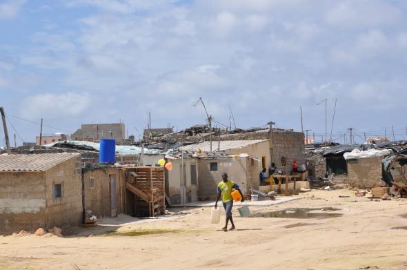 bairro salinas, ilha de Boa Vista. População estimada em 2 mil habitantes. 2009