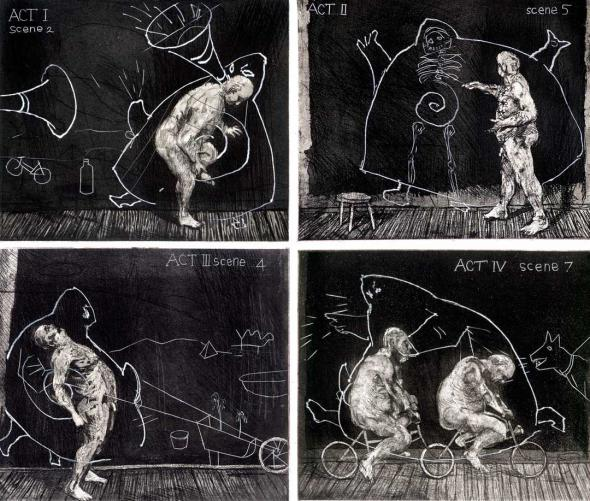 Ubu Tells the Truth, 1996-97 by William Kentridge.