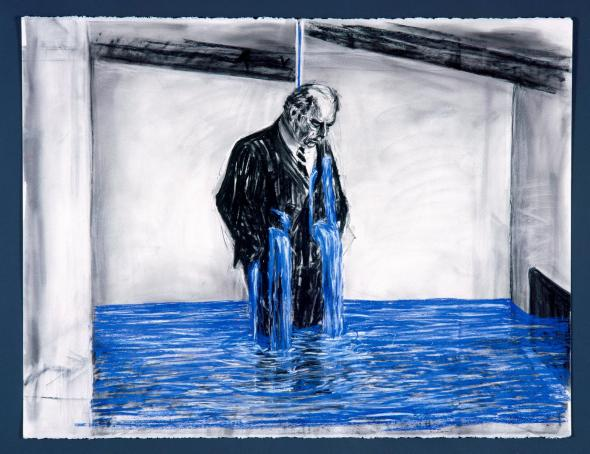 Felix Crying (1998-99), drawing for the film Stereoscope, by William Kentridge.