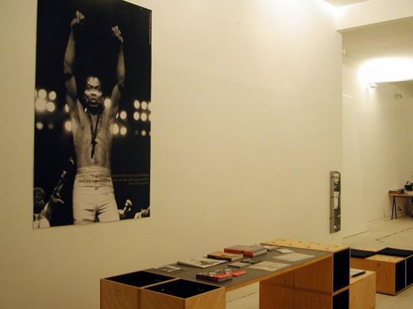 AFRICA-MUNDOS bloco/1 Fela Anikulapo Kuti: entre cultura e ativismo, no espaço da exo na rua Bela Cintra, São Paulo, 2004. Foto: exo