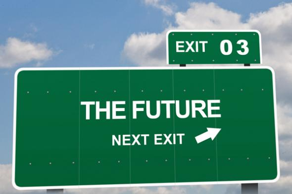 Foto de James Bey, Future Next Exit Highway Road Sign, 2010.