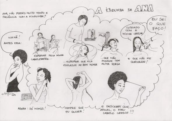 A Kindumba da ANA. Tira em quadrinhos utilizada com permissão.