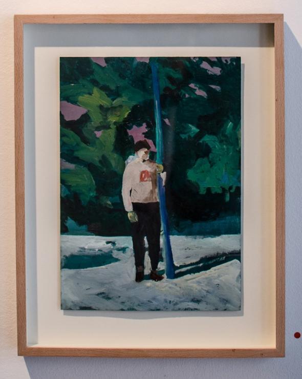 Snowman Oil on Paper 21x29,7