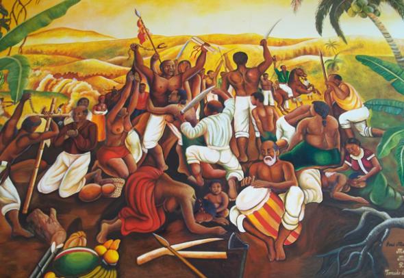 Mural da fundacion de yanga, autor Dr. Mere