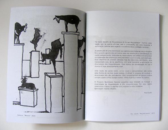 'Moçambiques, uma sociedade, várias realidades'. Imagem da esquerda de Gemuce e texto de Mia Couto
