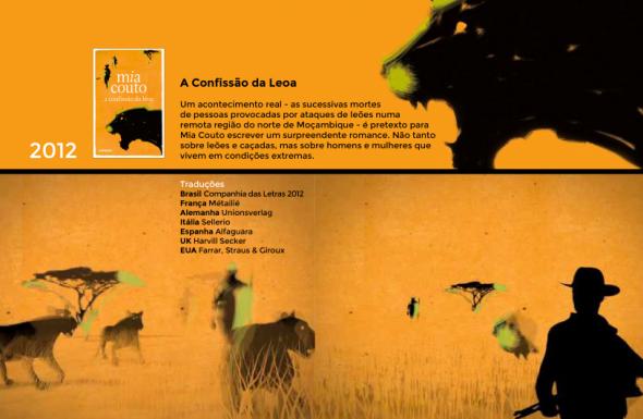 Livres de Mia Couto, extrait de l'infographie d'Ivone Ralha