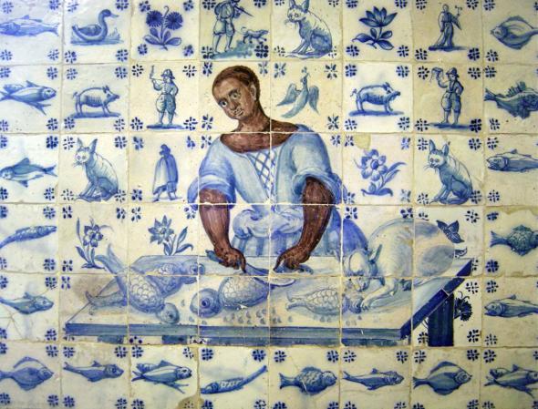 Painel de azulejos do século XVIII. Museu da cidade JÚLIO MARQUES