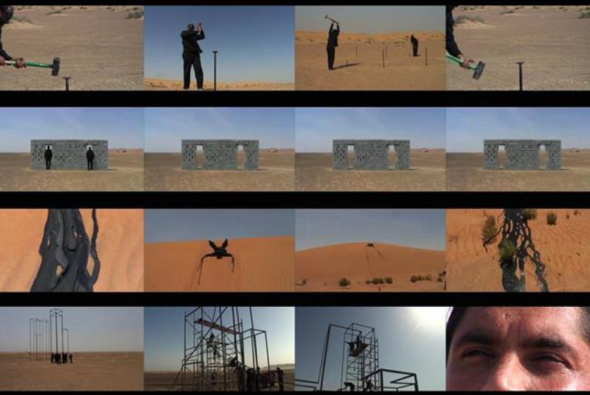 Paradise Metalic, 2014. Vídeo em 4 canais sincronizados | 4 multi-channel synchronized video 23' (loop)