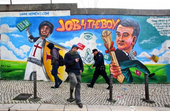 Mural Relvas nas Amoreiras, Lisboa, by Nomen; fotografia de Nuno Pinto.