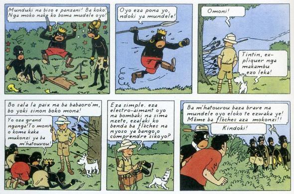 Hergé - Tintin no Congo em lingala