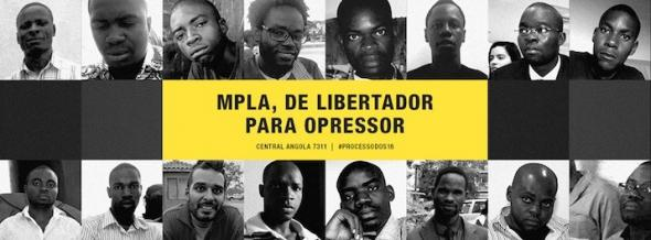 The 16 detained Angolan activists.