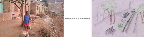 À esquerda Padrão encontrado para espaço público                                            À direita solução proposta Foto Manoel Ribeiro