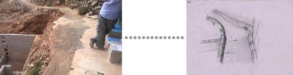 À esquerda Padrão encontrado para contenção de encostas À direita Solução proposta Foto Manoel Ribeiro