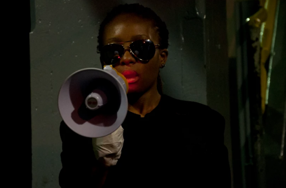 Courtesy of the Artist,Akona Kenqu, Public Acts, Johannesburg, 2014, Performance Tedet Time (From Compound to City)