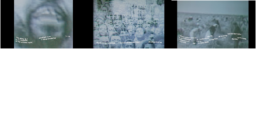 Video still, Not a Time for Labor, 3 channel video, 2013, Joanesburgo