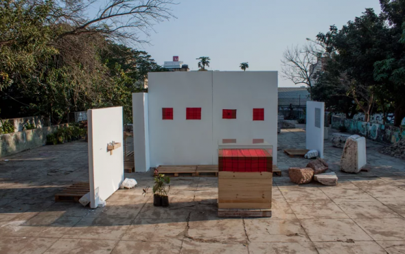 Installation View, Will See You in December...Tomorrow (WSYDt), 2015, Maputo