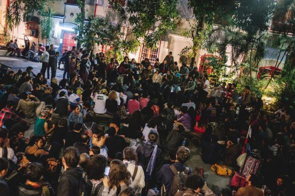Assembleia da ocupação da Funarte em São Paulo. Maio de 2016 (Fonte Mídia Ninja).
