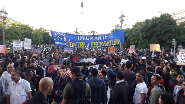 Manifestação 14 de novembro, Lisboa, foto Transições Urbanas