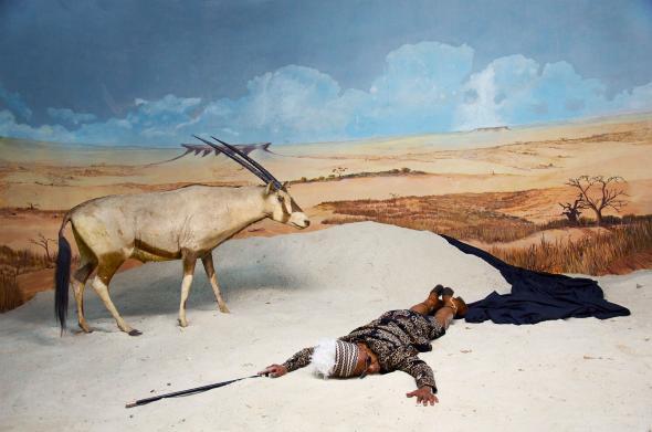 The Last Journey of the Dictator Mussunda N´zombo Before the Great Extinction (Act V), Kiluanji Kia Henda, inkjet print on cotton paper, 150cmx225cm, 2017