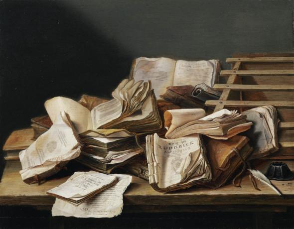 Still Life with Books, Jan Davidsz. de Heem, 1625 - 1630.