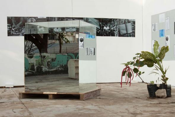 Euridice Kala, Will See You in December … Tomorrow (WSYDT), 2015. Installation view, Will See You in December … Tomorrow (WSYDT), MUSART Museu Nacional de Arte, Maputo, 2015. Courtesy of the artist.