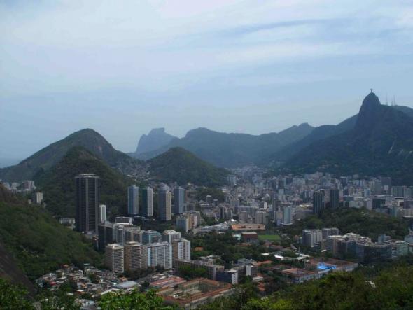 panorâmica Rio de Janeiro, Corcovado ao fundo
