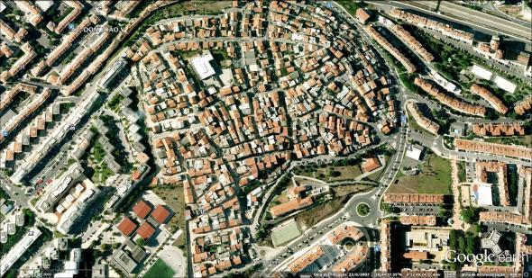vista aérea do bairro Cova da Moura