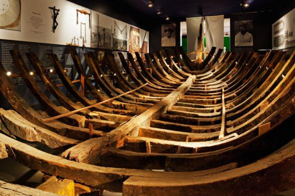 navio negreiro no Museu Afrobrasil em São Paulo