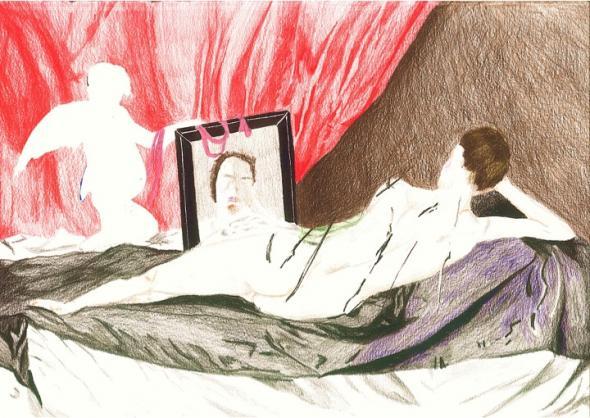 Ilustração escolhida por Odete para a conversa sobre identidade e violência.