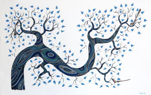 Árvore Azul (da série botânica)   2016   Filipe Branquinho