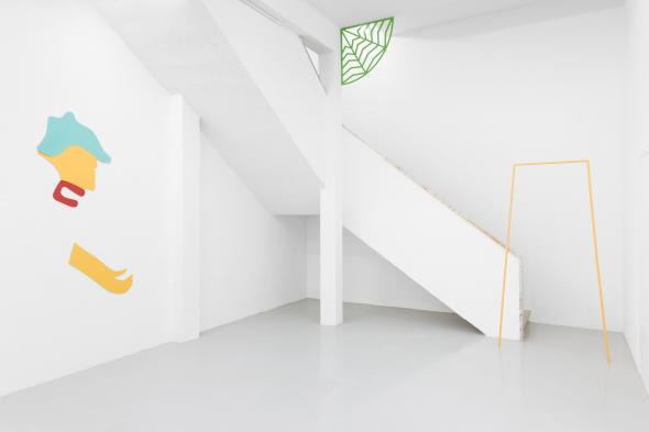 Vista da exposição com Guerrero (2018), Palma (2018) e Puerta (2018), foto de Bruno Lopes.