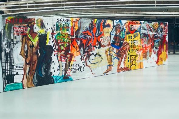 'Diálogos Políticos entre Corpos Desviantes' mural de Sarmurr