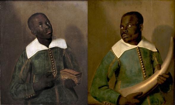 Retrato de dois criados, Diego Bemba e Pedro Sunda, que acompanharam D. Miguel de Castro, embaixador do Congo, ao Brasil | 1643 | Albert Eckhout (1610-1665)