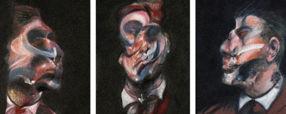 Três estudos para um auto-retrato, de Francis Bacon (1975)