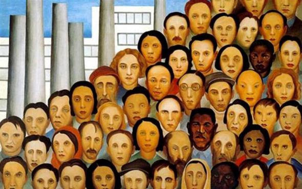 'Os operários' (1933), de Tarsila do Amaral