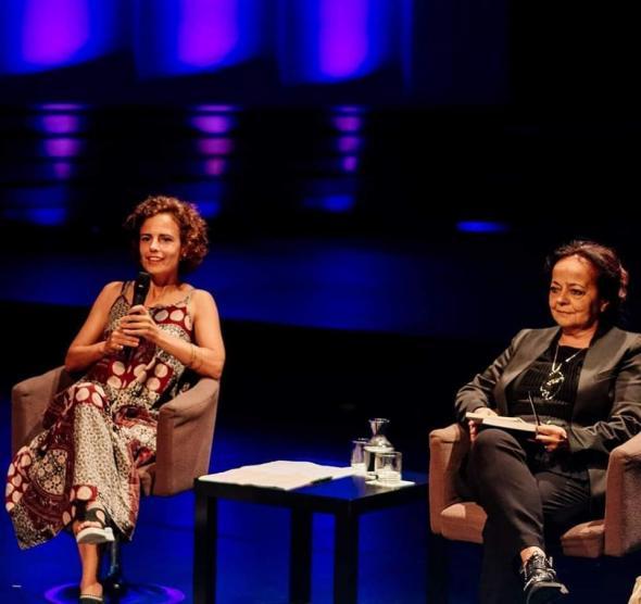 Marta Lança e Ana Paula Tavares, fotografia de Vitorino Coragem